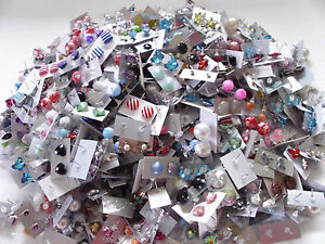 WHOLESALE LOT STUD EARRINGS 50 PAIRS