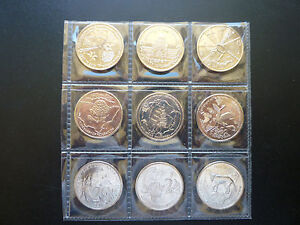 2001 20CENT CENTENARY OF FEDERATION 9  COIN UNC SET.