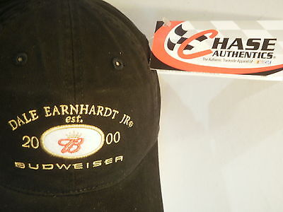 12 Dale Earnhardt Jr Est. 2000 Budweiser Hats Caps Nascar Chase One Size Men