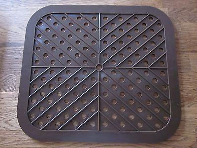 Spülbeckeneinlage eckig, 28 x 30 cm braun, Spülbeckenmatte, Spülbecken    303403