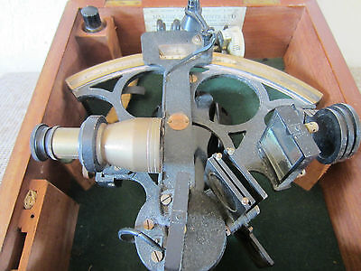 "OLD MARITIME ""BRITISH"" SEXTANT HUGHES & SON"