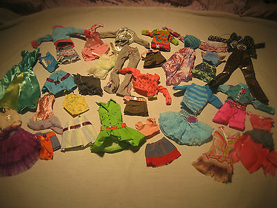 Lot  clothes / dresses 5 outfits 10 shoes / for barbie doll  New mixed #2