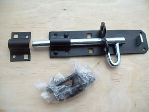 6-150mm-Brenton-padbolt-garden-gate-padlock-bolt-latch-lock-black-PAD-BOLT