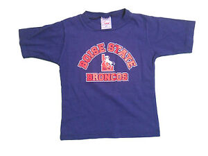 Boise state broncos kids toddlers navy blue screen printed for Boise t shirt printing
