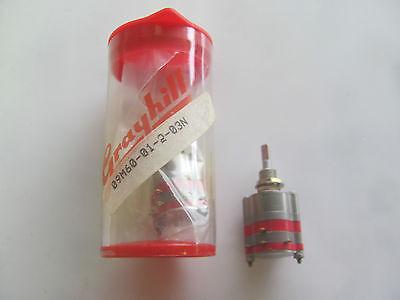 Grayhill 9m60-01-203n 60 Deg 1 Deck 2 Pole 3 Pos Non-short Rotary Switch