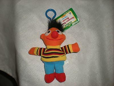 Sesame Streeet Plush Ernie 1997 Tyco With Tags Hanging Clip 5.5