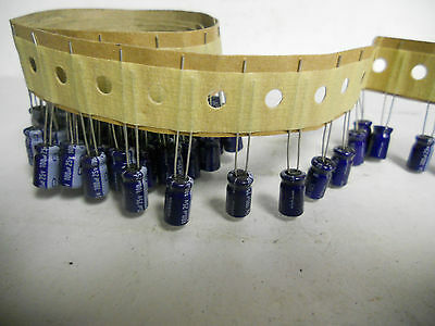 Lot Of 100 Nichicon Radial Electro Capacitors 100 Uf 25 V. Yk-70