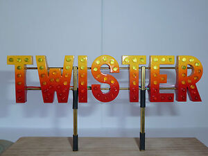 1/24th Scale Fairground Model Ride LED Top Signs Per Letter High Detail