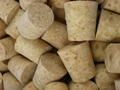 3 x Tapered Cork Bung Stopper Bottle size 16