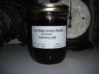 Elderberry Jelly Ozark Made 8 Oz.