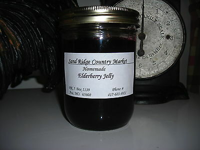 Elderberry Jelly Ozark Made 16 Oz.