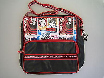 Playboy Shoulder Bag for School, Gym, Work.  Large Black Handbag