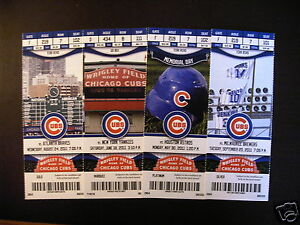 Dating chicago cubs ticket stubs