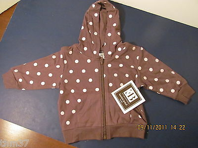 Elegant Baby Hooded Jacket 12 Months Brown W Pink Dots Girl $19.99 Our 715