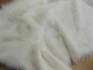 LONG-Pile-Faux-Fur-Fabric-BRIGHT-WHITE-All-Sizes-Bulk-Discounts-FREE-POST