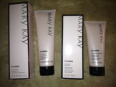 Mary Kay Timewise 3n1 Cleanser & Moisturizer For Normal To Dry Skin Lot Of 2