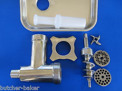 Stainless Steel Meat Grinder Attachment For Hobart 4212 4312 4612 4812 84185