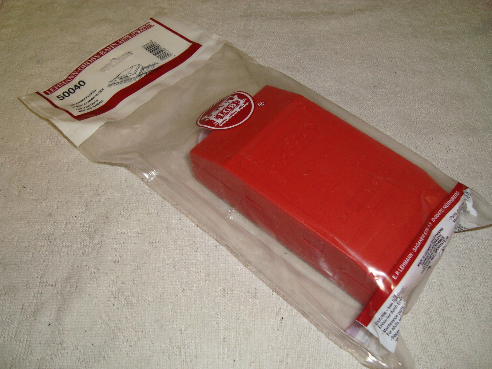 LGB 50040 RED ABRASIVE TRACK CLEANING BLOCK NEW IN BAG Toys