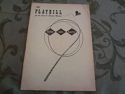 1951 Kiss Me Kate Cole Porter Broadway Theater NYC Playbill Program