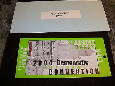 democratic convention TICKET from 2004 with envelope, nr/mint condition