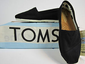Toms-Classics-Black-Canvas-Womens-Shoes-Multiple-Sizes-Available-New-in-Bag