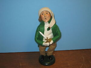 Byers-Choice-Retired-1998-Boy-with-Candle-and-Long-Green-Coat