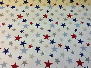Star curtain fabric ebay for Star material for curtains