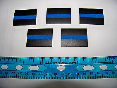 6- REFLECTIVE Thin Blue Line Decals Stickers FOP PBA -   FREE Shipping & Gift!