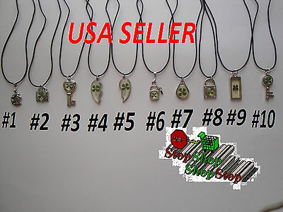 Real Four Leaf Clover Lucky Charm Necklace 10 Different Style F018