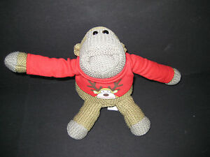 PLUSH-CHIMP-BEANIE-PG-TIPS-SOFT-TOY-MONKEY-ADVERTISING-KNITTED