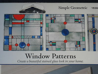 16388 Gallery Glass Window Pattern with DVD SIMPLE GEOMETRIC 16*