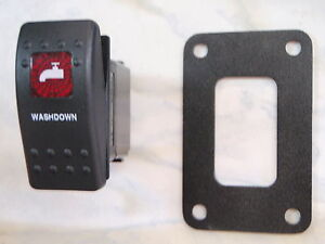 WASHDOWN-PUMP-SWITCH-WITH-PSC11-PANEL-CARLING-V1D1-1-RED-LENS-BLACK-CONTURA-II