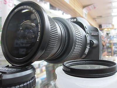 Wide-Angle Macro Fisheye lens for NIKON d3200 D3300 d5300 d5100 d3000 D40X  HD