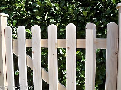 PLANED SMOOTH Wooden Garden Gates - 'CUSTOM MADE TO ORDER' - Picket Style
