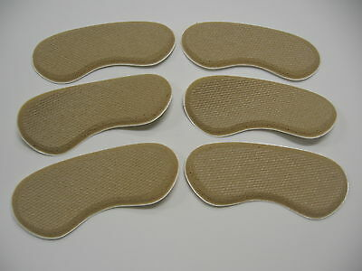 Heel Grippers - Rubber Shoe Grips Self Adhesive-3 Pair (6 Grips) - Free Shipping