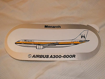 Monarch Airlines Airbus A300-600 Sticker