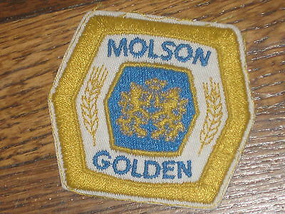molson golden beer  patch, 60's new old stock,