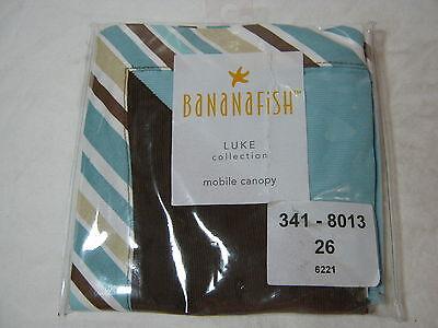 Banana Fish Luke Blue Brown Tan White Stripe Mobile Canopy Cover Nip
