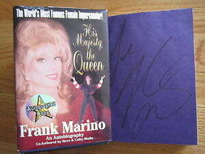 FRANK-MARINO-signed-HIS-MAJESTY-THE-QUEEN-1997-Book-COA-FEMALE-IMPERSONATOR
