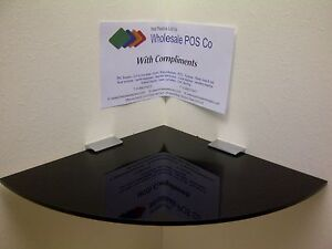 CORNER-SHELF-9-DEEP-5MM-THICK-BLACK-GLOSS-PERSPEX-C-W-CHROME-SHELF-SUPPORTS