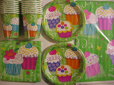 Cupcake Party - Birthday Party Supply Kit Pack Set 16