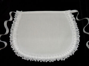 VICTORIAN-STYLE-MAIDS-CUTE-LITTLE-WHITE-APRON-COTTON-LACE-Made-in-England