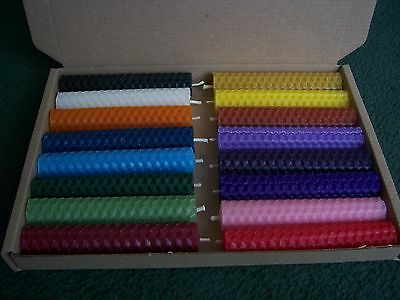 16 Beeswax Rolled Candles for Spell Work (10cm/4 Inch) Altar/Wicca/Pagan
