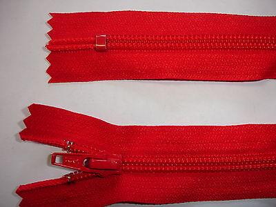 RV 400 - Reißverschluß rot ykk 32 cm lang, nicht teilbar  2 Stück