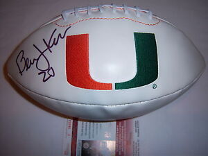 BERNIE-KOSAR-MIAMI-HURRICANES-JSA-COA-SIGNED-FOOTBALL
