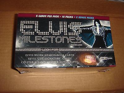 -SEALED * BOX ELVIS MILESTONES 2010 PRESS PASS-12 Packs