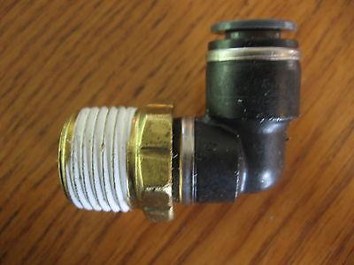 Qty 2 Smc Kv2l11-37s 90 Degree Elbow Fitting 3/8 Tube 1/2 Thread