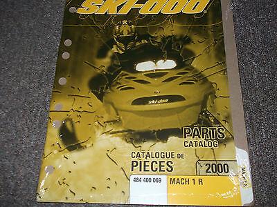 2000 Ski Doo Ski-doo Snowmobile Mach 1 R Parts Catalog Manual