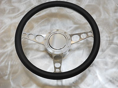 BILLET ALUMINUM STEERING WHEEL GM CHEVY COLUMN 1969 UP MADE IN U.S.A. EMS.