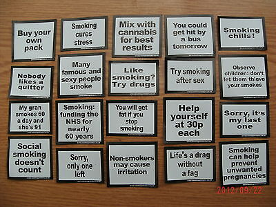 20 x 3 = 60  Adult funny joke smoking stickers for cigarette packets